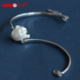 Fashion Baroque Natural Cultured Pearl Bangle Jewelry (E150052)