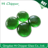 Green Flat Back Glass Gems for Fire Pit