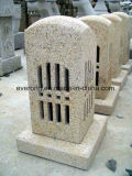 Natural Grey /Yellow Stone Granite Antique Lantern for Outside Garden