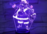 3D Christmas Lamp, Optical Illusion Night Light for Nursery / Decor / Living Room, 7 Colors Changing Toys and Christmas Gifts (Santa Claus)
