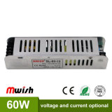 12V 5A 60W Indoor Constant Current LED Power Supply for LED Lights