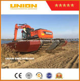 Doosan Amphibious Excavator with Undercarriage Pontoon and Water Tank