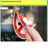 Custom Double Side Window Film Printed Static Decals Vinyl Sticker