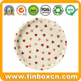 Hearts Metal Food Tin Tray for Candy Fruit Cookies
