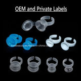 OEM Clear Tattoo Ink Rings Disposable Eyebrow Lip Tattoo Pigments Cup Holder Permanent Makeup Tattoo Ink Ring