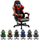 Cheap Adjustable PU Leather Gaming Chair for Black Seat Racing RGB Modern Office Computer PC