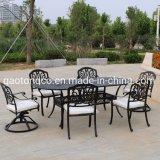 Waterproof Outdoor Garden Furniture Cast Aluminum Dining Table and Chair