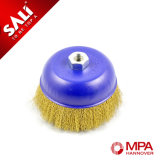 Good Performance Crimped Steel Wire Cup Brush for Moving Rust