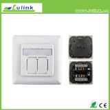 Best Price German Style CAT6 Shieled Integration Faceplate Information Outlet