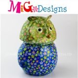 Wholesale Painting Owl Bank Ceramic Cute Money Box