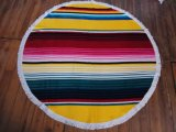 (BC-RT1005) High Quality 100% Cotton Round Beach Towel