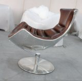 Hotel Lounge Chair with Ottoman, Lobster Chair, Aluminum Back Chair