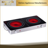 Ce RoHS Approval Infrared Cooker Es-J102 Double Burner Ceramic Stove