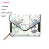 Lcq-0116 New Arrivel Printing Design Tri-Fold Wallets Multi-Purpose Wallet Credit Card Clutch Cash Wallet Purse for Lady