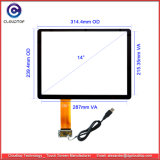 14 Inch Capacitive Touch Screen for Bonding on LCD or LED Panel