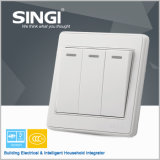 Italian New Design Wall Switch and Socket 3gang 1 Way Generous Elegant Wall Switch