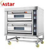 Ce Approved Bakery Equipment Wholesale Double Deck Four Trays Electric Pizza Oven