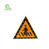 Factory Direct Highway Safety Aluminum Alloy Solar Traffic Warning Sign Board 700mm
