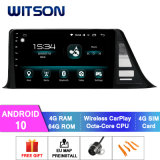 Witson Android 10 Car GPS Navigation for Toyota Chr 4GB RAM 64GB Flash Big Screen in Car DVD Player