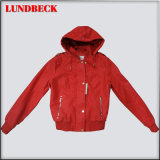 Women Flocking PU Jacket with Competitive Price