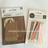 Decorative Tag Embellishments / Gold Glitter Kraft Paper Tags for Crafts