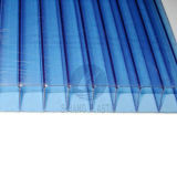 Blue Polyarbonate Hollow Sheet, Twin-Wall PC Sheet with UV Protection