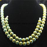 Luxury Prayer Tourmaline and Germanium Beads Necklace with Bracelet Set
