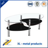 Cheap Glass Top Stainless Steel Coffee Table