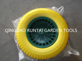 Popular Sale Good Quality Flat Free Rubber Wheel (4.00-8)