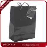 Black Glossy Coated Paper Gift Bag, Glossy Paper Shopping Bag, Gift Bag, Paper Gift Bag, Paper Shopping Bag with Print Logo