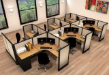 4 Person Melamine Staff Desk/Particle Office Table/Office Workstation