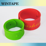 Novelty Promotional Silicone Rubber Slap Bracelets