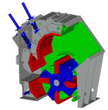 Granite Stone Hydraulic Impact Crusher with Feeding Size 400mm (PFC1420)