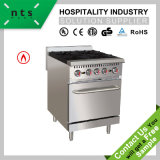 4 Gas Burner with Oven Without Rear Plate