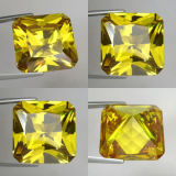 6X6mm Princess Cut/Square Yellow Cubic Zircon Price
