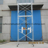 Safe Ce Passed Rolling Scaffolding Tower for Decoration.