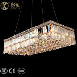 Modern Rectangle Clear Crystal Pendant Light