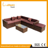 Rattan Aluminum Patio Brown Cushion Wicker Corner Sofa Set Leisure Modern Outdoor Garden Furniture