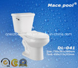 Bathroom Two Piece Toilets Ceramic Water Closet (DL-041)