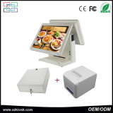Cashier Register 15 Inch TFT LCD Dual Screen Touch POS Terminal