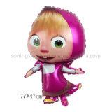 Dto0255 Masha Shape Baby Shower Decorations Advertising Mylar Balloons