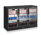 Back Bar Triple Door Display Beer Cooler with Ce, CB, RoHS, Meps, ETL