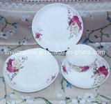 China Wholesale New Design Wedding Party Rose Ceramic Dinnerware