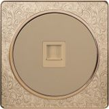 Pattern Design British Standard One Gang Internet/Telephone Socket Flat