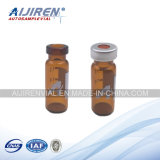 1.5ml Wide Opening Crimp-Top Vial with Write-on Spot Amber Short Vials Cap