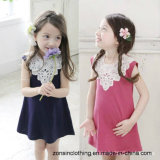 Girls′ Spliced Sleeveless Summer Dress Children Clothes