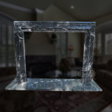 Great Marble Fireplace with Fine Hand-Carved Quality and Simple Design