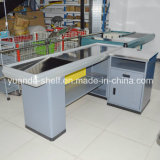 New Design Metal Cashier Checkout Counter for Supermarket