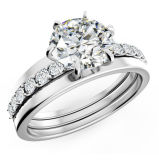 925 Sterling Sivler Engagement Ring Silver with CZ