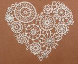 Heart-Shaped Chemical Lace for Women Clothing
